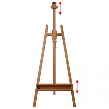 Schmincke Atelier-Staffelei S1 - aus Buche-Holz massiv - hochwertige Staffelei mit Malablagen für Ihr Künstler-Bedarf - 3