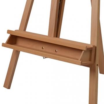 Schmincke Atelier-Staffelei S1 - aus Buche-Holz massiv - hochwertige Staffelei mit Malablagen für Ihr Künstler-Bedarf - 5