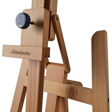 Schmincke Atelier-Staffelei S1 - aus Buche-Holz massiv - hochwertige Staffelei mit Malablagen für Ihr Künstler-Bedarf - 7