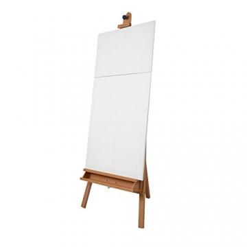 Schmincke Atelier-Staffelei S1 - aus Buche-Holz massiv - hochwertige Staffelei mit Malablagen für Ihr Künstler-Bedarf - 8