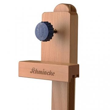 Schmincke Studio-Staffelei S2 - aus Buche-Holz massiv - hochwertige Staffelei mit Malablage und auf Rollen - 7