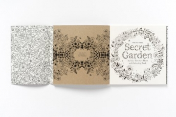 Secret Garden: An Inky Treasure Hunt and Colouring Book -