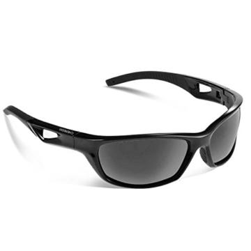 Sport Sonnenbrille, CHEREEKI Polarisierende Sport-Sonnenbrille mit UV400 Schutz & unzerbrechlichem Rahmen aus TR90, für Männer, Frauen, Outdoor-Sport, Angeln, Skifahren, Golf, Laufen, Radfahren, Camping - 1