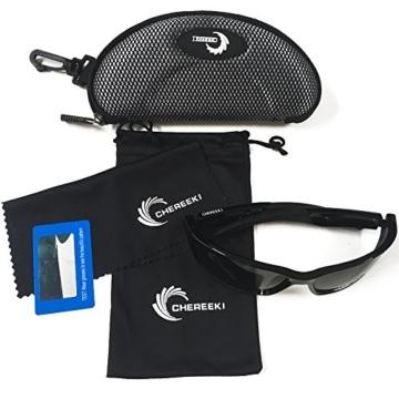 Sport Sonnenbrille, CHEREEKI Polarisierende Sport-Sonnenbrille mit UV400 Schutz & unzerbrechlichem Rahmen aus TR90, für Männer, Frauen, Outdoor-Sport, Angeln, Skifahren, Golf, Laufen, Radfahren, Camping - 7