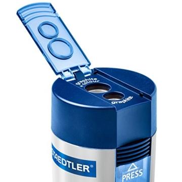 Staedtler 512 001 Doppelspitzer (für Bleistifte und Buntstifte, Anspitzer mit Behälter) - 2