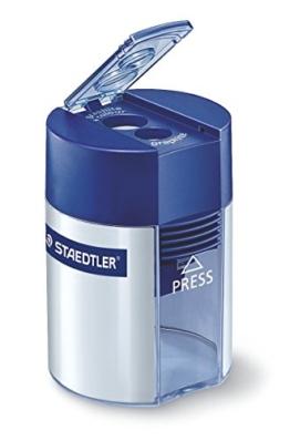 Staedtler 512 001 Doppelspitzer (für Bleistifte und Buntstifte, Anspitzer mit Behälter) - 1