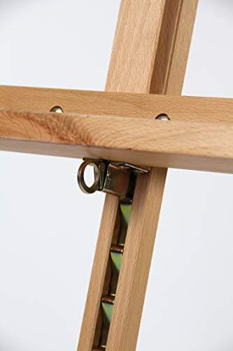 Staffelei COMO aus Buchenholz FSC®, Keilrahmen bis 130cm, Höhe bis 230 cm, Qualität vom Fachhändler - 4