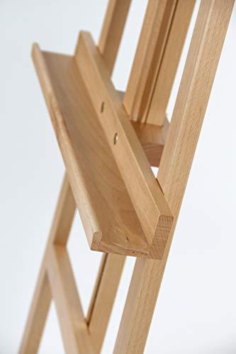 Staffelei COMO aus Buchenholz FSC®, Keilrahmen bis 130cm, Höhe bis 230 cm, Qualität vom Fachhändler - 5
