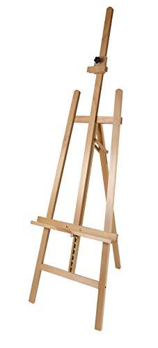 Staffelei COMO aus Buchenholz FSC®, Keilrahmen bis 130cm, Höhe bis 230 cm, Qualität vom Fachhändler - 6