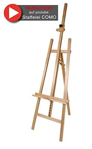 Staffelei COMO aus Buchenholz FSC®, Keilrahmen bis 130cm, Höhe bis 230 cm, Qualität vom Fachhändler - 7