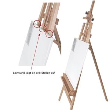 Staffelei ELBA aus Buchenholz FSC, Sitz- und Standstaffelei Starthöhe 40-105 cm, Qualität vom Fachhändler für Keilrahmen bis 120cm - 4