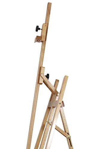 Staffelei ELBA aus Buchenholz FSC, Sitz- und Standstaffelei Starthöhe 40-105 cm, Qualität vom Fachhändler für Keilrahmen bis 120cm - 5