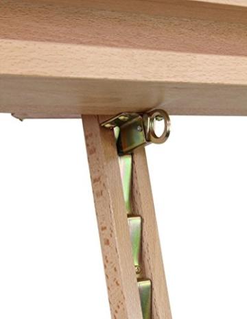 Staffelei ELBA aus Buchenholz FSC, Sitz- und Standstaffelei Starthöhe 40-105 cm, Qualität vom Fachhändler für Keilrahmen bis 120cm - 6