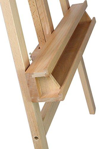 Staffelei ELBA aus Buchenholz FSC, Sitz- und Standstaffelei Starthöhe 40-105 cm, Qualität vom Fachhändler für Keilrahmen bis 120cm - 7