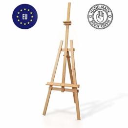 Staffelei holz groß Kinder - Leinwand Ständer Staffeleien für Maler aus Buchenholz 180 cm höhenverstellbar - 1