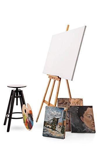 Staffelei holz groß Kinder - Leinwand Ständer Staffeleien für Maler aus Buchenholz 180 cm höhenverstellbar - 6