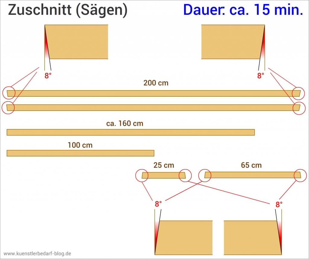 Staffelei aus Holz, zusägen (Anleitung)