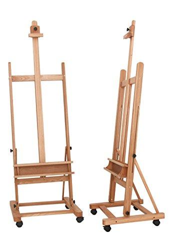 Staffelei Lima XL, für Keilrahmen bis 220 cm, aus massiver Buche FSC, große standfeste Atelierstaffelei - 3