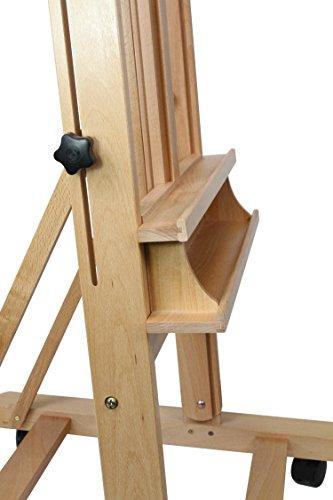 Staffelei Lima XL, für Keilrahmen bis 220 cm, aus massiver Buche FSC, große standfeste Atelierstaffelei - 4