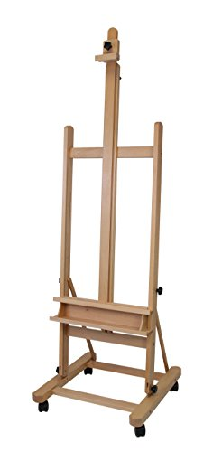 Staffelei Lima XL, für Keilrahmen bis 220 cm, aus massiver Buche FSC, große standfeste Atelierstaffelei - 6