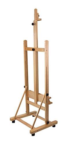 Staffelei Lima XL, für Keilrahmen bis 220 cm, aus massiver Buche FSC, große standfeste Atelierstaffelei - 7