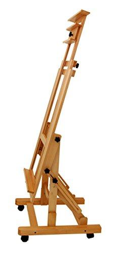 Staffelei Master - Profi-Modell, waagerecht und senkrecht malen, Keilrahmen bis 200 cm, aus massivem FSC® Buchenholz - 5