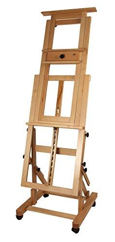 Staffelei Master - Profi-Modell, waagerecht und senkrecht malen, Keilrahmen bis 200 cm, aus massivem FSC® Buchenholz - 6