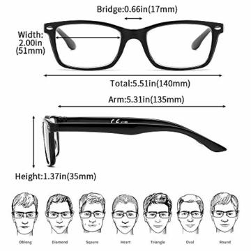 Suertree Feder Scharnier (3 Pack) Lesebrillen Sehhilfe Augenoptik Brille Lesehilfe für Damen Herren von 1.5X BM151 - 2