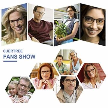 Suertree Feder Scharnier (3 Pack) Lesebrillen Sehhilfe Augenoptik Brille Lesehilfe für Damen Herren von 1.5X BM151 - 4