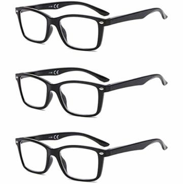 Suertree Feder Scharnier (3 Pack) Lesebrillen Sehhilfe Augenoptik Brille Lesehilfe für Damen Herren von 1.5X BM151 - 1
