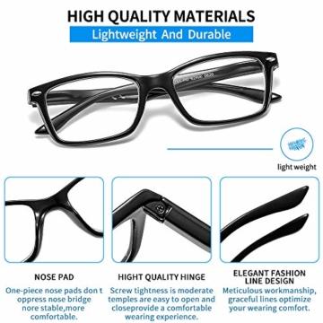 Suertree Feder Scharnier (3 Pack) Lesebrillen Sehhilfe Augenoptik Brille Lesehilfe für Damen Herren von 1.5X BM151 - 6
