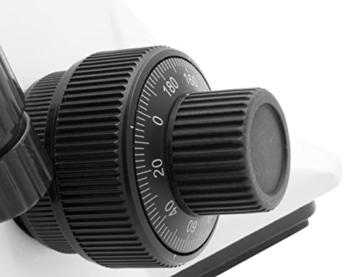 TS-Optics TSMSCM100T Binokular Trinokular Durchlicht Mikroskop für Labor bis max. 1000-fache Vergrößerung, Objektiv mit 4 Achromaten dimmbare LED - 9