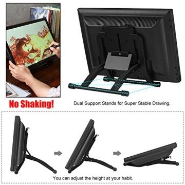 Ugee 1910B 19 Zoll Grafiktablett, Zeichnung Tablette mit LCD Bildschirm und Einstellbar Monitor Anzeigen Stand w / 2 x Intelligenter Stift, 4000LPI 2048 Druckstufen 1440 x 900 Pixel Auflösung - 3