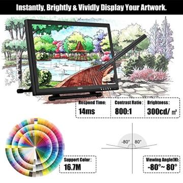 Ugee 1910B 19 Zoll Grafiktablett, Zeichnung Tablette mit LCD Bildschirm und Einstellbar Monitor Anzeigen Stand w / 2 x Intelligenter Stift, 4000LPI 2048 Druckstufen 1440 x 900 Pixel Auflösung - 4