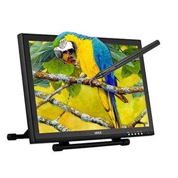Ugee 1910B 19 Zoll Grafiktablett, Zeichnung Tablette mit LCD Bildschirm und Einstellbar Monitor Anzeigen Stand w / 2 x Intelligenter Stift, 4000LPI 2048 Druckstufen 1440 x 900 Pixel Auflösung - 1