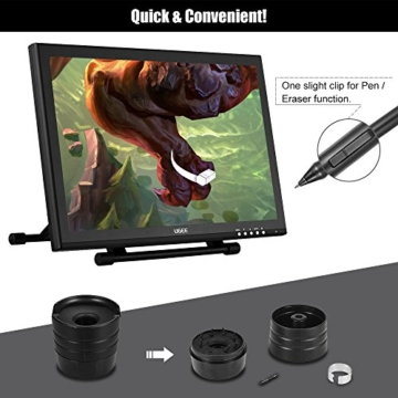 Ugee 1910B 19 Zoll Grafiktablett, Zeichnung Tablette mit LCD Bildschirm und Einstellbar Monitor Anzeigen Stand w / 2 x Intelligenter Stift, 4000LPI 2048 Druckstufen 1440 x 900 Pixel Auflösung - 6
