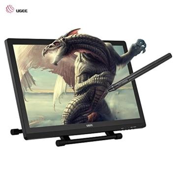 Ugee 2150 21.5 Zoll 1080P HD Grafikmonitor ,Grafiktablett, Grafik Zeichnung Tablette, IPS Bildschirm, Einstellbar Monitor Anzeigen Stand, W / 2 x Intelligenter Stift, 5080LPI Auflösung - 2