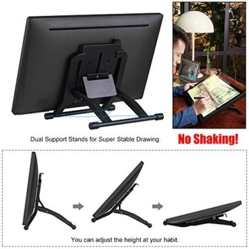 Ugee 2150 21.5 Zoll 1080P HD Grafikmonitor ,Grafiktablett, Grafik Zeichnung Tablette, IPS Bildschirm, Einstellbar Monitor Anzeigen Stand, W / 2 x Intelligenter Stift, 5080LPI Auflösung - 4