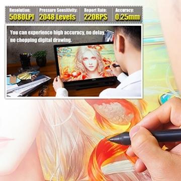 Ugee 2150 21.5 Zoll 1080P HD Grafikmonitor ,Grafiktablett, Grafik Zeichnung Tablette, IPS Bildschirm, Einstellbar Monitor Anzeigen Stand, W / 2 x Intelligenter Stift, 5080LPI Auflösung - 6