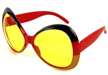 Ultra coole Deutschland Brille Sonnenbrille Fanbrille - 1