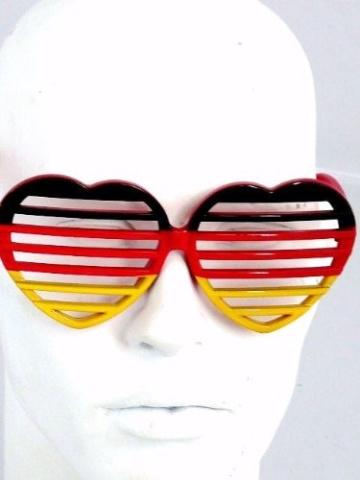 Ultra coole Deutschland Brille Sonnenbrille Fanbrille - 5