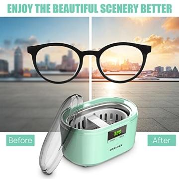 Ultraschallreiniger Ultraschallreinigungsgerät Ultraschallgerät 600ML 50W 48 kHz Digital Ultrasonic Cleaner Reiniger mit 5 Zeitmodi für Haushalt Brillen Schmuck Uhren Zahnprothese- JHUC01 - 2