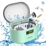 Ultraschallreiniger Ultraschallreinigungsgerät Ultraschallgerät 600ML 50W 48 kHz Digital Ultrasonic Cleaner Reiniger mit 5 Zeitmodi für Haushalt Brillen Schmuck Uhren Zahnprothese- JHUC01 - 1