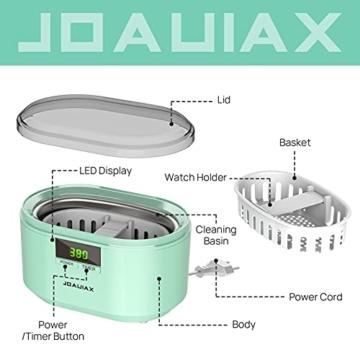 Ultraschallreiniger Ultraschallreinigungsgerät Ultraschallgerät 600ML 50W 48 kHz Digital Ultrasonic Cleaner Reiniger mit 5 Zeitmodi für Haushalt Brillen Schmuck Uhren Zahnprothese- JHUC01 - 4