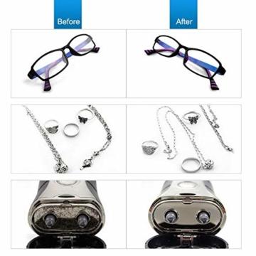 Uten Ultraschallreiniger Ultraschallreinigungsgerät brillenreinigungsgerät 600ml Ultraschallgerät für Brille Schmuck Uhren Zahnprothesen Ringe Ulrtaschallbad-40,000Hz 35W Timing ultrasonic cleaner - 3