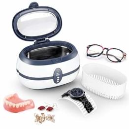 Uten Ultraschallreiniger Ultraschallreinigungsgerät brillenreinigungsgerät 600ml Ultraschallgerät für Brille Schmuck Uhren Zahnprothesen Ringe Ulrtaschallbad-40,000Hz 35W Timing ultrasonic cleaner - 1