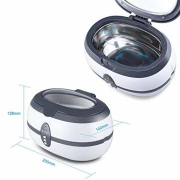 Uten Ultraschallreiniger Ultraschallreinigungsgerät brillenreinigungsgerät 600ml Ultraschallgerät für Brille Schmuck Uhren Zahnprothesen Ringe Ulrtaschallbad-40,000Hz 35W Timing ultrasonic cleaner - 6