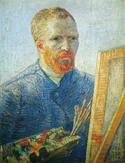 Vincent van Gogh vor seiner Staffelei