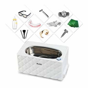 VLOXO Ultraschallgerät 450ml Ultraschallreinigungsgerät Ultraschallreiniger 42khz für Brille Uhren Schmuck Bürsten Rasierer Zahnprothesen Tattoo Werkzeuge MEHRWEG - 2