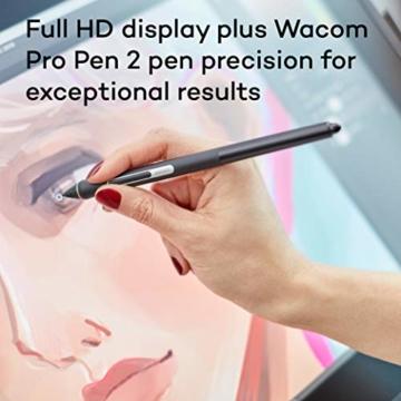 Wacom Cintiq 22 Kreativ-Stift-Display mit Standfuß (zum Illustrieren u. Zeichnen direkt auf dem Bildschirm, mit Full-HD-Display, 1.920 x 1.080, u. Wacom Pro Pen 2, kompatibel mit Windows & Mac) - 2